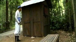 Strange sex in a public toilet PART 1- More On HDMilfCam.com