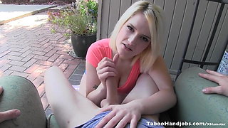 Blasphemous actions with brother-in-law. Siri Taboo Handjob