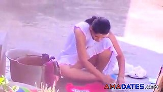 Beautiful Bangalore girl in pink panty
