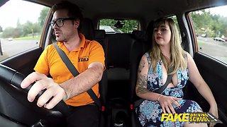 Fake Driving School Massive British boobs