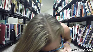 Blow Job In The Library