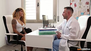 Venus Afrodita comes for tits examination but ends up fucking with doctor