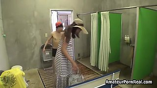 Japanese Wife Sex Harassed Young Guys Female Spa Toilet