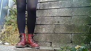 Compilation of chicks secretly filmed pissing outdoors
