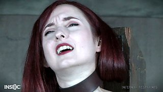 Redhead slave girl gets toyed by dungeon master