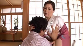 Reiko Shimura naughty Asian mature in position 69