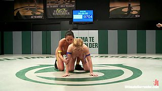 2 Mma Trained Babes Bang It Out On The Mats In A Sex Wrestling Match - Publicdisgrace
