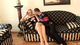 Dissolute blonde Gianna gets it too hard