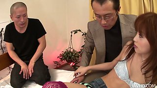 After seducing several dudes slutty oriental chick Miina Yoshihara gets cunnilingus