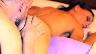 Stimulate your girl's anus with sensual oil massage! Make