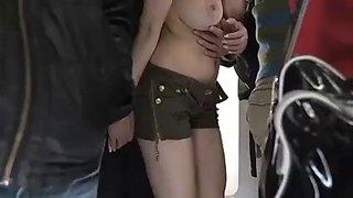 Asain girl fucked on a bus