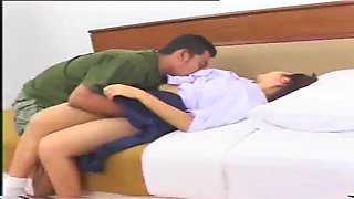 Japan round ass innocent school girl in school uniform fucked hard