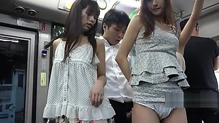 Asian Babes On The Bus