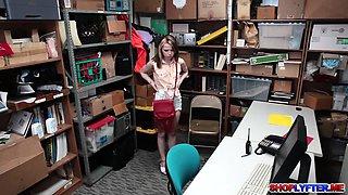 Shoplifting teen Alina West gets a hot punishment