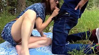 Innocent picnic turns into great fuck
