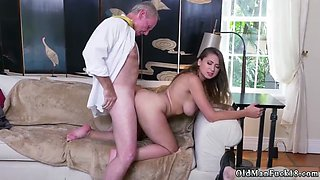 Old granny huge tits and  man fucks Ivy impresses with her large titties and ass