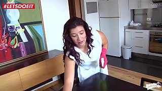 Just hired a crazy colombian maid to clean my dick