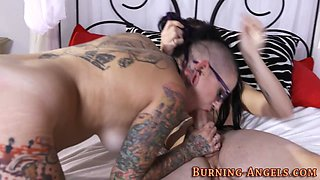 Tatted scene ho has anal