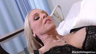 mature nurse soothes bbc