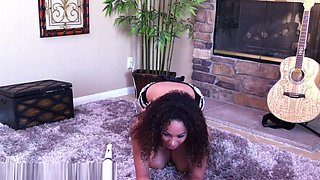 Serena The Maid Orgasms On The Floor