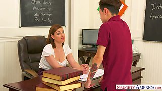 Stunning sex teacher Sovereign Syre is fucking one good student