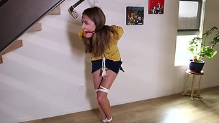 tied up, gagged, and desperate to pee