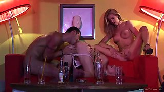 an incredible threesome with drunk blondes
