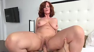 Mom fuck son 2: creampie in pussy