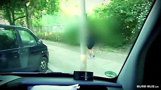 Curvy Austrian Sina fucked in a German bus