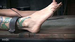 Rather flexible MILF Rain DeGrey gets to know what breast bondage is