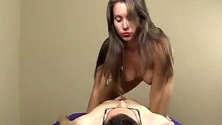 Sexy Slut Dominates A Guy