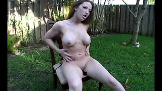 joi jerkoff encouragement in the yard