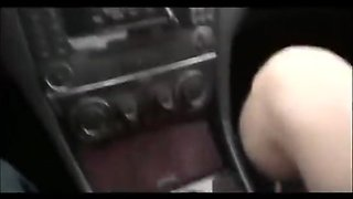 girl pee in car