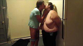 Hot MILF Makes Out In Kitchen Then Sucks Dick Taking Huge Facial