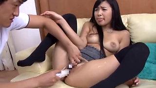 Sexy Asian teen Nana Ogura sucking and fucking
