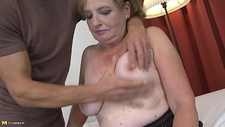 Martina is a chubby housewife who surely deserves a doggy shagging