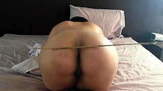 Slutty amateur babe gets spanked hard and fucked in the ass