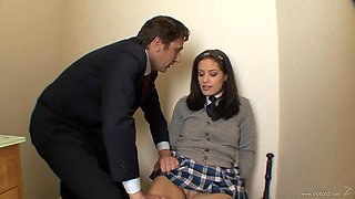 Slutty college girl Jessica Right gets fucked hard in a toilet