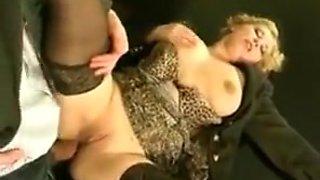 Big ass   big saggy tits secretary assfucked stockings