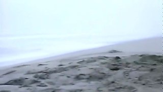 Classic Catfights-Playful Nude Wrestling at the Beach