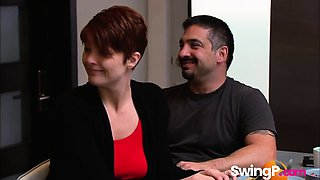 Couple has hot first time swinging