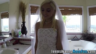 real teen bride jizzed