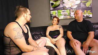 REIFE SWINGER - MMF threesome with Hot German BBW