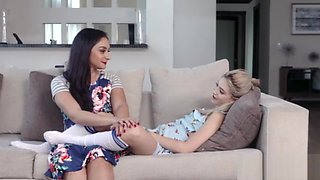 Dad fucks step daughter while mom supervises