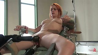 Bondage Session with Fucking Machine Action for Redhead Addie Juniper