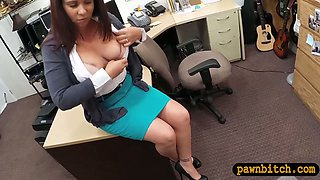 Booby MILF pounded by perverted pawn man to earn money