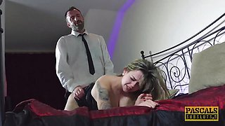 British babe dommed and fed with masters cum