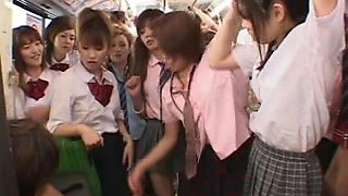 Schoolgirl Bus Orgy censored