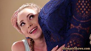 Perfect milf scissoring her stepdaughter