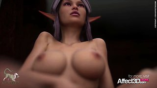 Busty 3d animation Elves Compiliation